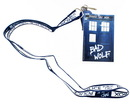 Doctor Who Lanyard: Bad Wolf with 2D TARDIS Charm