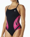 TYR DPXB7A Women's TYR Pink Phoenix Splice Diamondfit Swimsuit