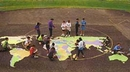 Ursa Major World Map Stencil Kit-Creates a huge 20x36 foot playground feature