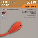 Coleman Cable 2307 Outdoor Round Extension Cord 16/3 25 Ft.
