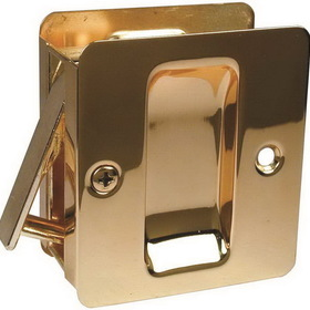 Kwikset 3323 Sliding Door Lock Passage Brass, Price/Each