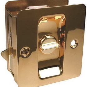 Kwikset 3333 Sliding Door Lock Privacy Brass, Price/Each