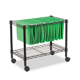 Single-Tier Rolling File Cart, 24W X 14D X 21H, Black, Price/EA