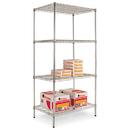 ALERA ALESW503624SR Wire Shelving Starter Kit, Four-Shelf, 36w X 24d X 72h, Silver