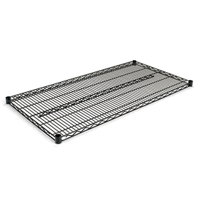 Industrial Wire Shelving Extra Wire Shelves, 48W X 24D, Black, 2 Shelves/Carton, Price/CT