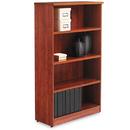 ALERA ALEVA635632MC Valencia Series Bookcase, Four-Shelf, 31 3/4w X 14d X 55h, Medium Cherry