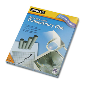 Plain Paper Copier Transparency Film, Letter, Clear, 100/Box, Price/BX