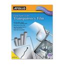 ACCO BRANDS APOPP201C B/w Laser Transparency Film W/removable Sensing Stripe, Letter, Clear, 100/bx