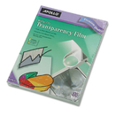 ACCO BRANDS APOWO100CB Write-On Transparency Film, Letter, Clear, 100/box