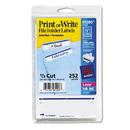 Avery AVE05200 Print Or Write File Folder Labels, 11/16 X 3 7/16, White/dark Blue Bar, 252/pack