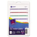 Avery AVE05215 Print Or Write File Folder Labels, 11/16 X 3 7/16, White/assorted Bars, 252/pack