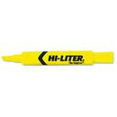 AVERY-DENNISON AVE07742 Desk Style Highlighter, Chisel Tip, Yellow Ink, Dozen
