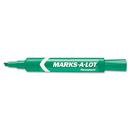 AVERY-DENNISON AVE07885 Regular Desk Style Permanent Marker, Chisel Tip, Green, Dozen