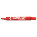 AVERY-DENNISON AVE08887 Large Desk Style Permanent Marker, Chisel Tip, Red, Dozen