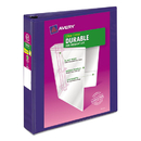 AVERY-DENNISON AVE17024 Durable View Binder W/slant Rings, 11 X 8 1/2, 1 1/2