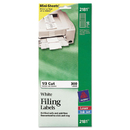 Avery AVE2181 File Folder Labels On Mini Sheets, 2/3 X 3 7/16, White, 300/pack