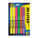 AVERY-DENNISON AVE23565 Pen Style Highlighter, Chisel, Assorted Fluorescent Colors, 6/set