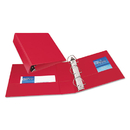 "Durable Binder With Slant Rings, 3"" Capacity, Red"