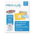 AVERY-DENNISON AVE30600 Laser Address Labels, 1 X 2 5/8, White, 3000/box
