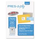 AVERY-DENNISON AVE30606 Laser Address Labels, 1 X 2 5/8, White, 7500/box