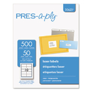 AVERY-DENNISON AVE30623 Laser Address Labels, 2 X 4 1/4, Clear, 500/box