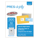 AVERY-DENNISON AVE30632 Laser File Folder Labels, 2/3 X 3 7/16, White, 1500/box