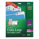 Avery AVE5026 X-Large 1/3 Cut Trueblock File Folder Labels, 15/16 X 3 7/16, White/asst, 450/pk