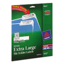 AVERY-DENNISON AVE5027 Extra Large 1/3 Cut Trueblock File Folder Labels, 15/16 X 3 7/16, White, 450/pk