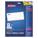 AVERY-DENNISON AVE5195 Easy Peel Laser Address Labels, 2/3 X 1 3/4, White, 1500/pack