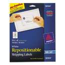 AVERY-DENNISON AVE58164 Repositionable Shipping Labels, Inkjet/laser, 3 1/3 X 4, White, 150/box