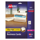 AVERY-DENNISON AVE5876 Two-Side Printable Clean Edge Business Cards, Laser, 2 X 3 1/2, Ivory, 200/pack
