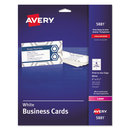 AVERY-DENNISON AVE5881 Print-To-The-Edge Microperf Business Cards, Color Laser, 2 X 3 1/2, Wht, 160/pk