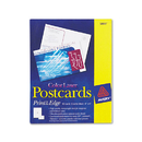 AVERY-DENNISON AVE5889 Postcards, Color Laser Printing, 4 X 6, Uncoated White, 2 Cards/sheet, 80/box
