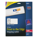 AVERY-DENNISON AVE6873 Color Printing Mailing Labels, 2 X 3 3/4, White, 200/pack
