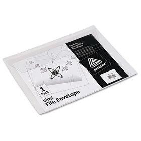 AVERY-DENNISON AVE72053 Vinyl File Envelope, Jacket, Letter, Clear, Price/EA