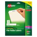 AVERY-DENNISON AVE8066 Removable File Folder Labels, Inkjet/laser, 2/3 X 3 7/16, White, 750/pack