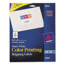 AVERY-DENNISON AVE8254 Color Printing Mailing Labels, 3 1/3 X 4, Matte White, 120/pack