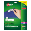 Avery AVE8425 Removable 1/3 Cut File Folder Labels, 15/16 X 3 7/16, White, 450/pk