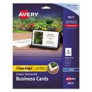 AVERY-DENNISON AVE8873 2-Side Printable Clean Edge Business Cards, Inkjet, 2 X 3 1/2, Linen Wht, 200/pk