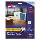 AVERY-DENNISON AVE8876 Two-Side Printable Clean Edge Business Cards, Inkjet, 2 X 3 1/2, Ivory, 200/pack