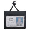 ADVANTUS CORPORATION AVT75452 Id Badge Holder W/convention Neck Pouch, Horizontal, 4 X 2 1/4, Black, 12/pack