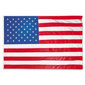 All-Weather Outdoor U.S. Flag, Heavyweight Nylon, 4 Ft. X 6 Ft., Price/EA