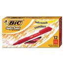 BIC CORPORATION BICSCSM11RD Soft Feel Retractable Ballpoint Pen, Red Ink, 1mm, Medium, Dozen