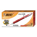 BIC CORPORATION BICVLG11RD Velocity Retractable Ballpoint Pen, Red Ink, 1mm, Medium, Dozen