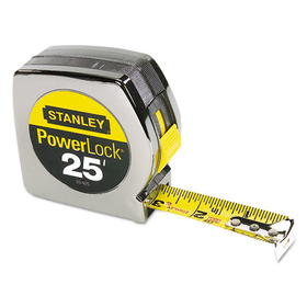 "Powerlock II Power Return Rule, 1"" x 25 ft., Chrome/Yellow, Price/EA"