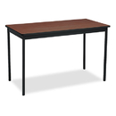 BARRICKS MANUFACTURING CO BRKUT244830WA Utility Table, Rectangular, 48w X 24d X 30h, Walnut/black