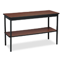 BARRICKS MANUFACTURING CO BRKUTS1848WA Utility Table With Bottom Shelf, Rectangular, 48w X 18d X 30h, Walnut/black