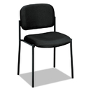 BASYX BSXVL606VA10 Vl606 Series Stacking Armless Guest Chair, Black Fabric