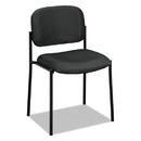 BASYX BSXVL606VA19 Vl606 Series Stacking Armless Guest Chair, Charcoal Fabric