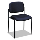 BASYX BSXVL606VA90 Vl606 Series Stacking Armless Guest Chair, Navy Fabric